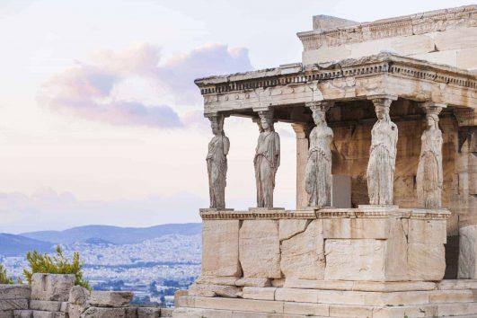 Erechtheion in Acropolis of Athens, Greece