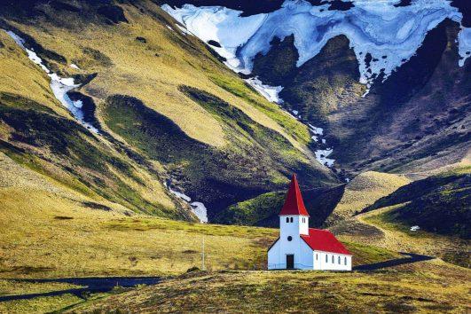 Iceland church in Vik