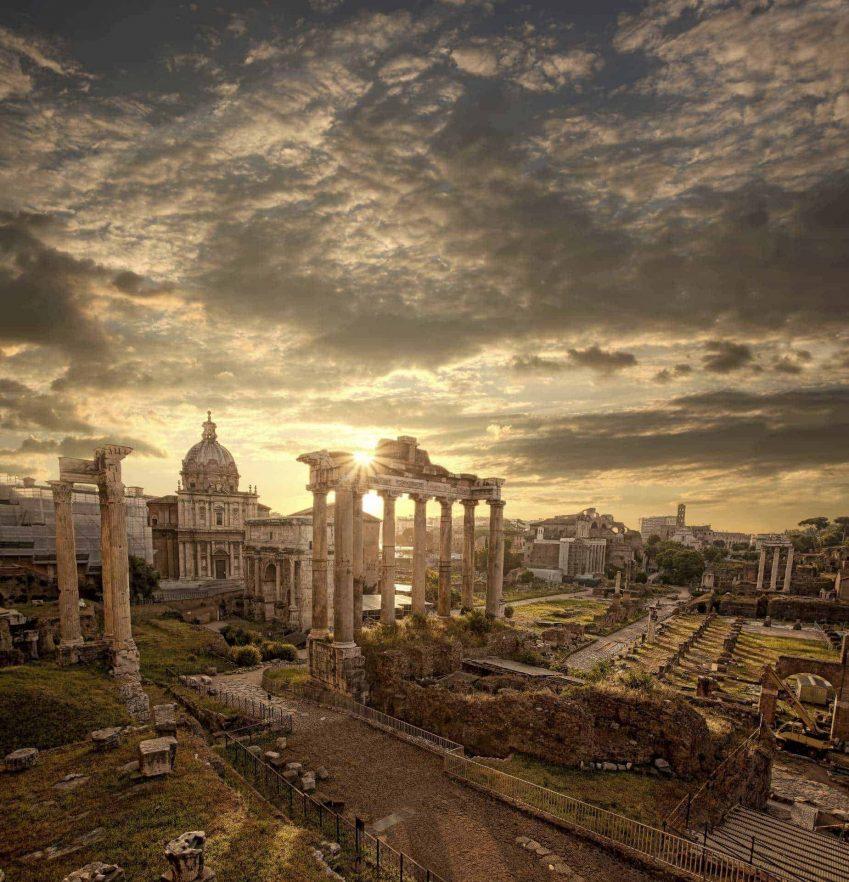 Winter in Rome, Roman Ruins