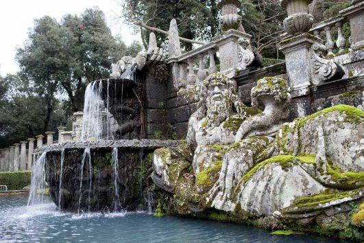 Tiber River Statue Villa Lante Italy