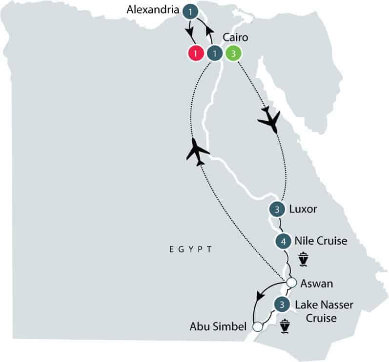 Egypt tour map