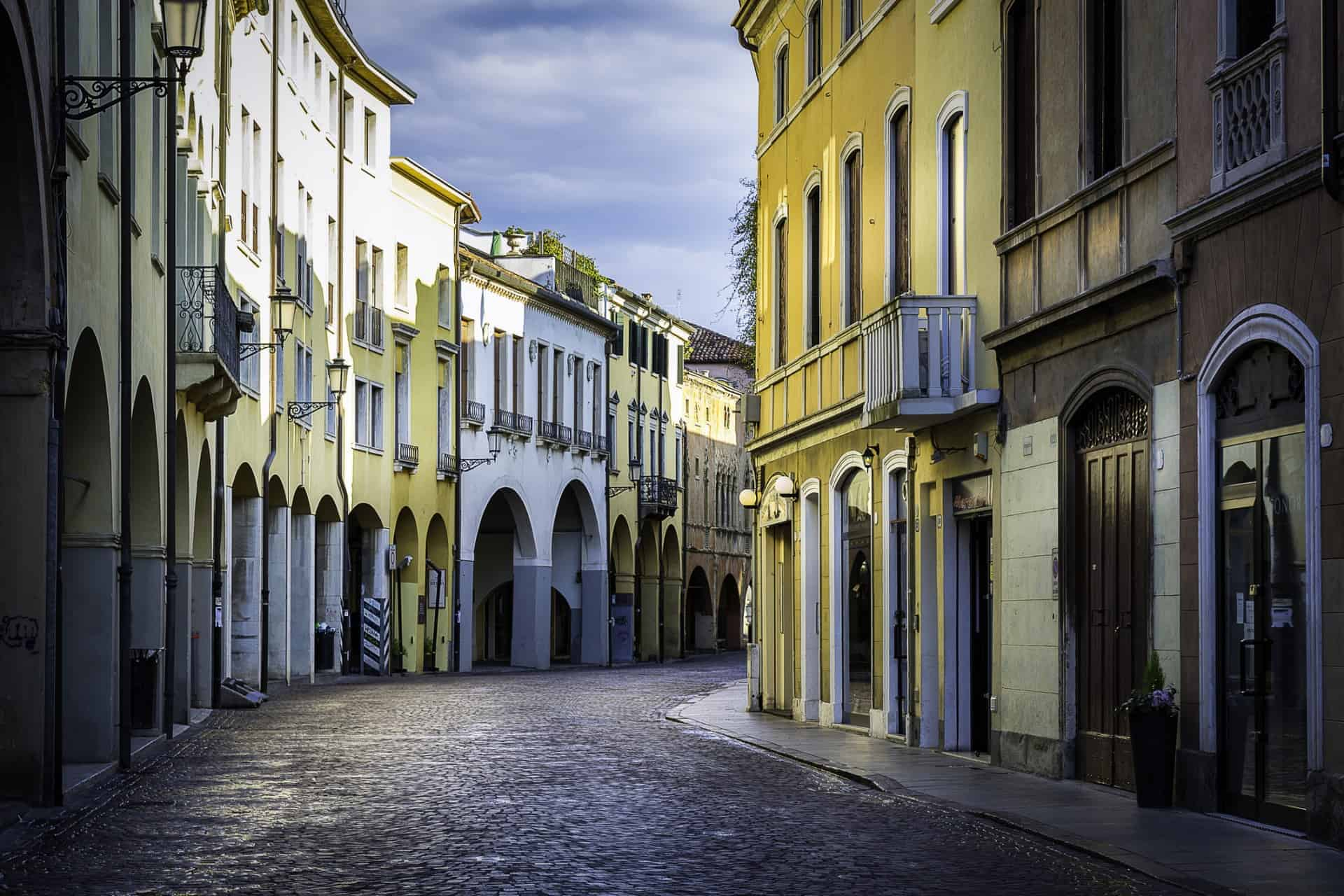Padua, Italy, cobblestones