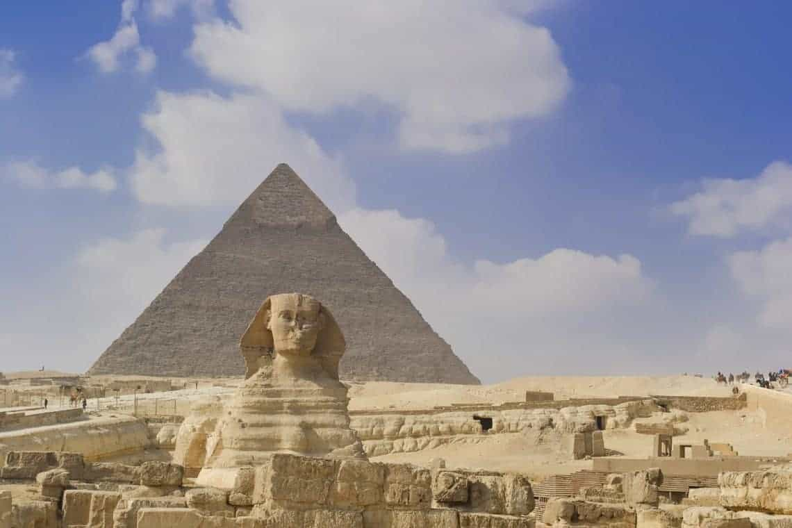 Sphinx and Pyramids in Cairo, Egypt