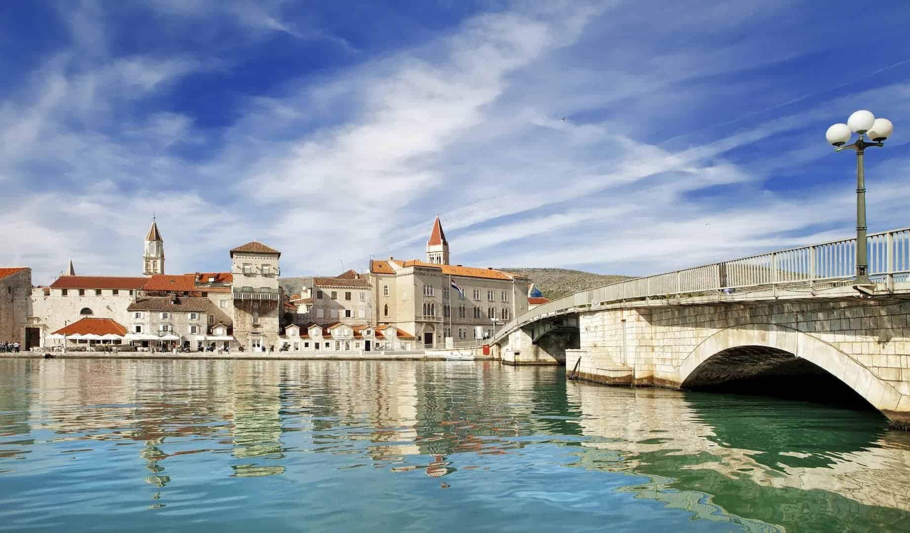 Old town of Trogir in Dalmatia, Croatia.
