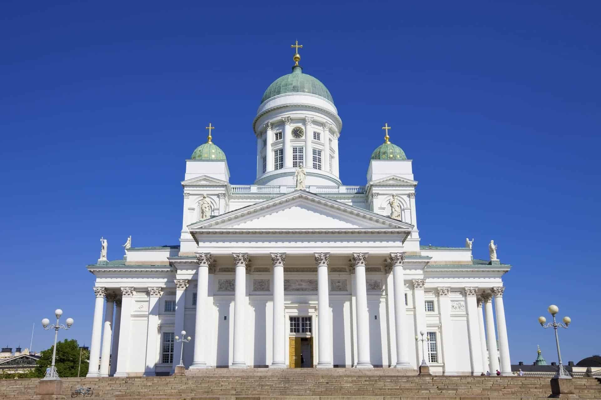 Cathedral on Senate Square Helsinki, Finland