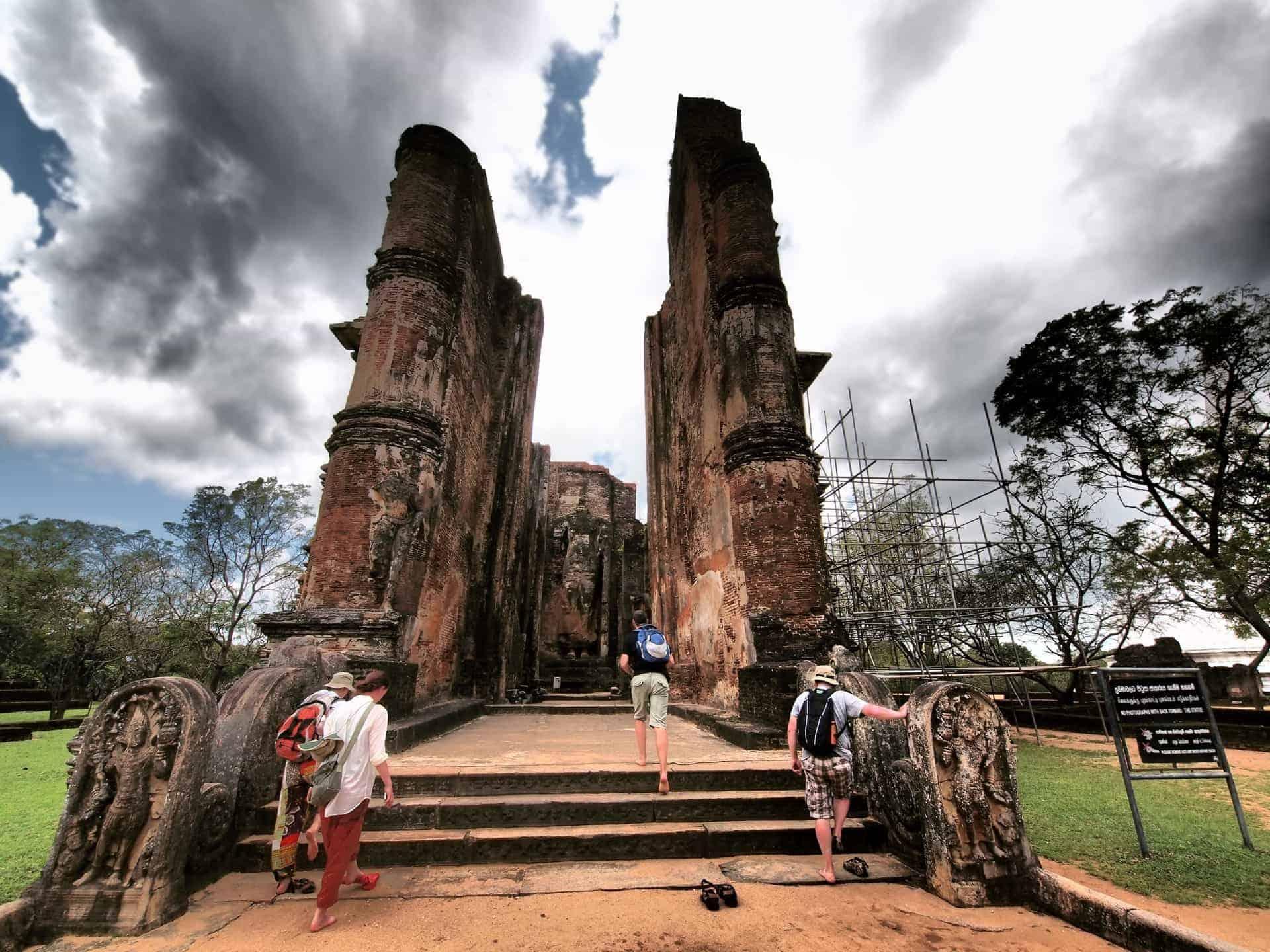 Lankatilaka Vihara ruins in Polonnaruwa, Sri Lanka