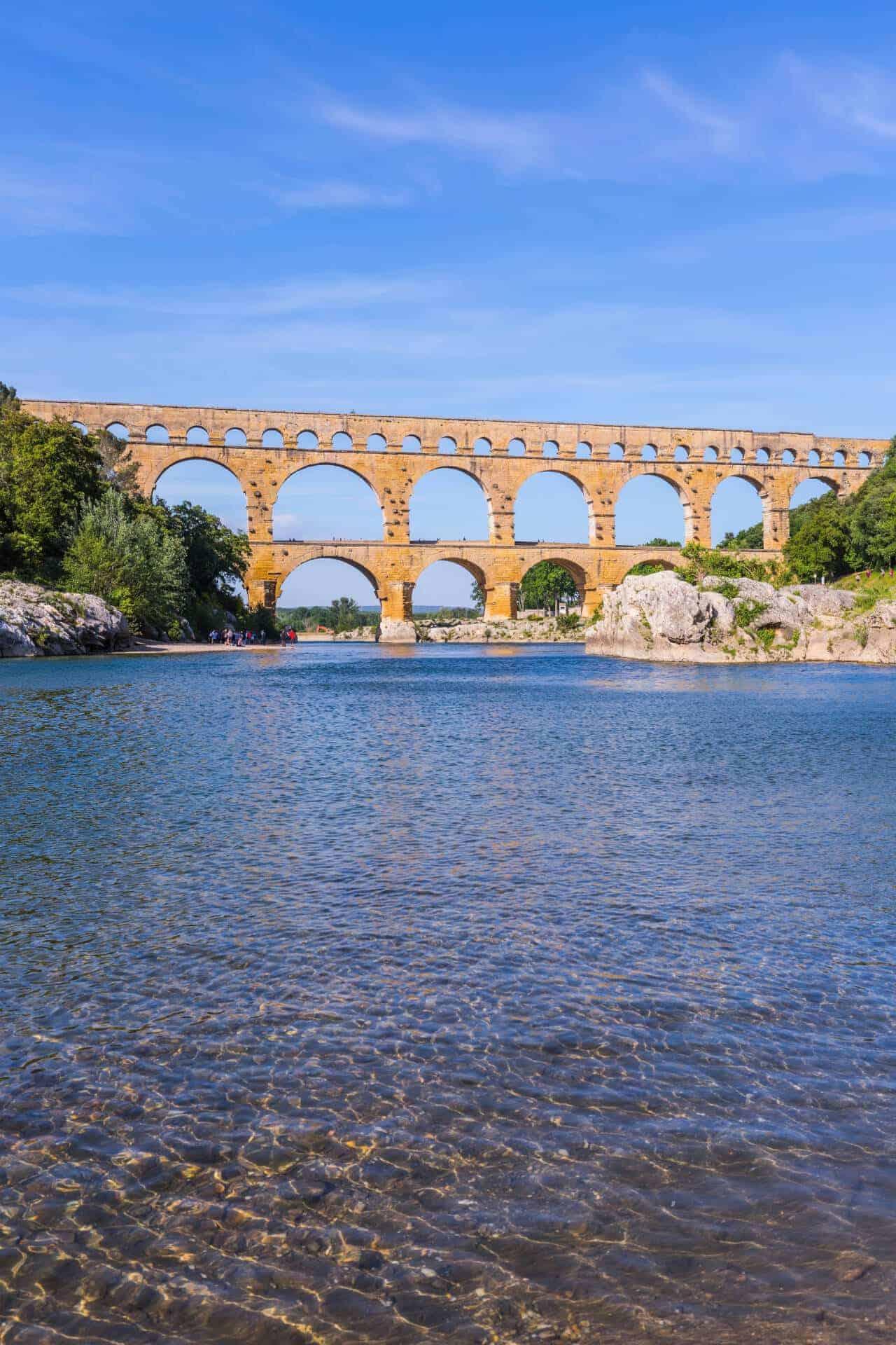 Pont du Gard on river Gardon Provance