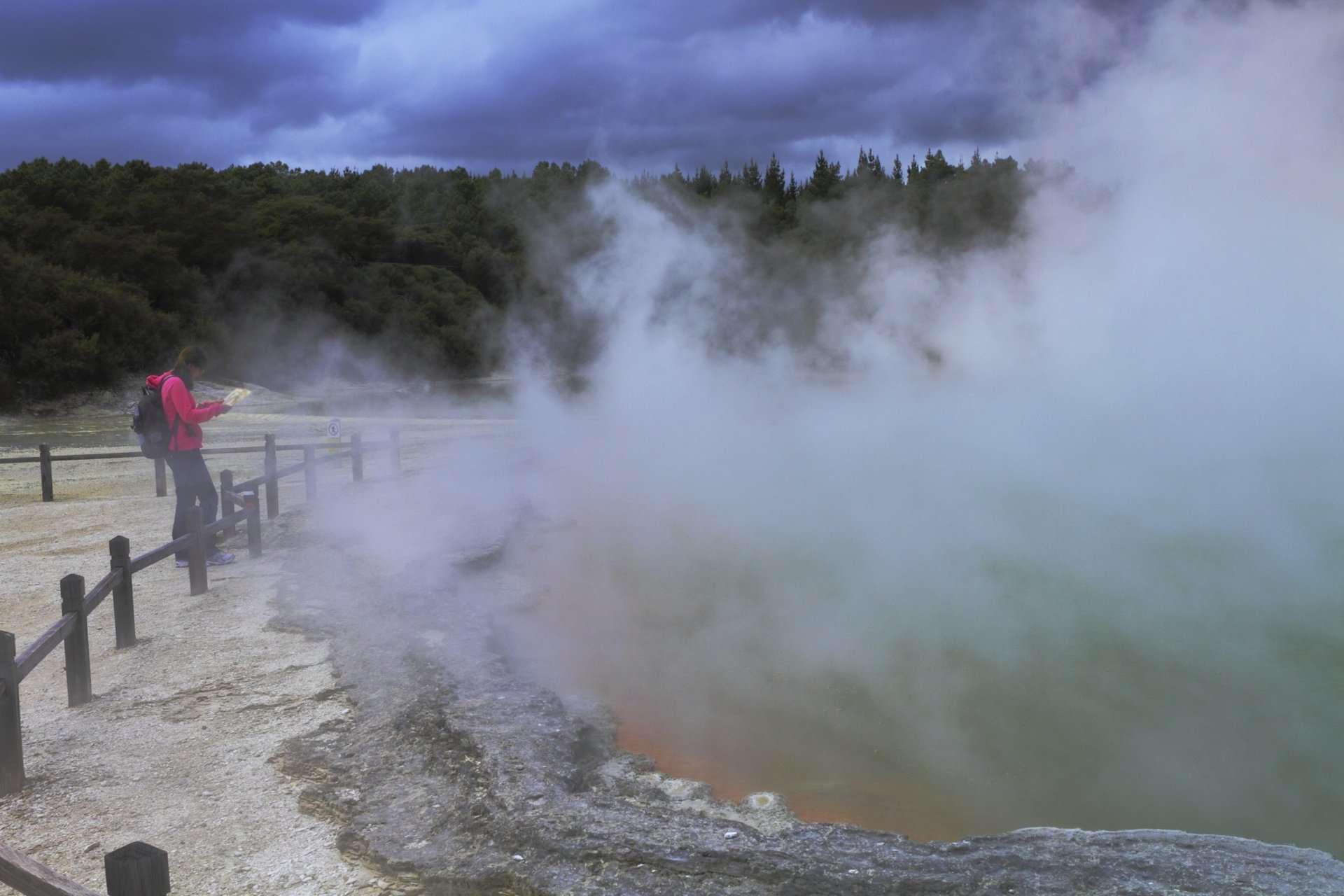 Rotorua, New Zealand, volcanic springs