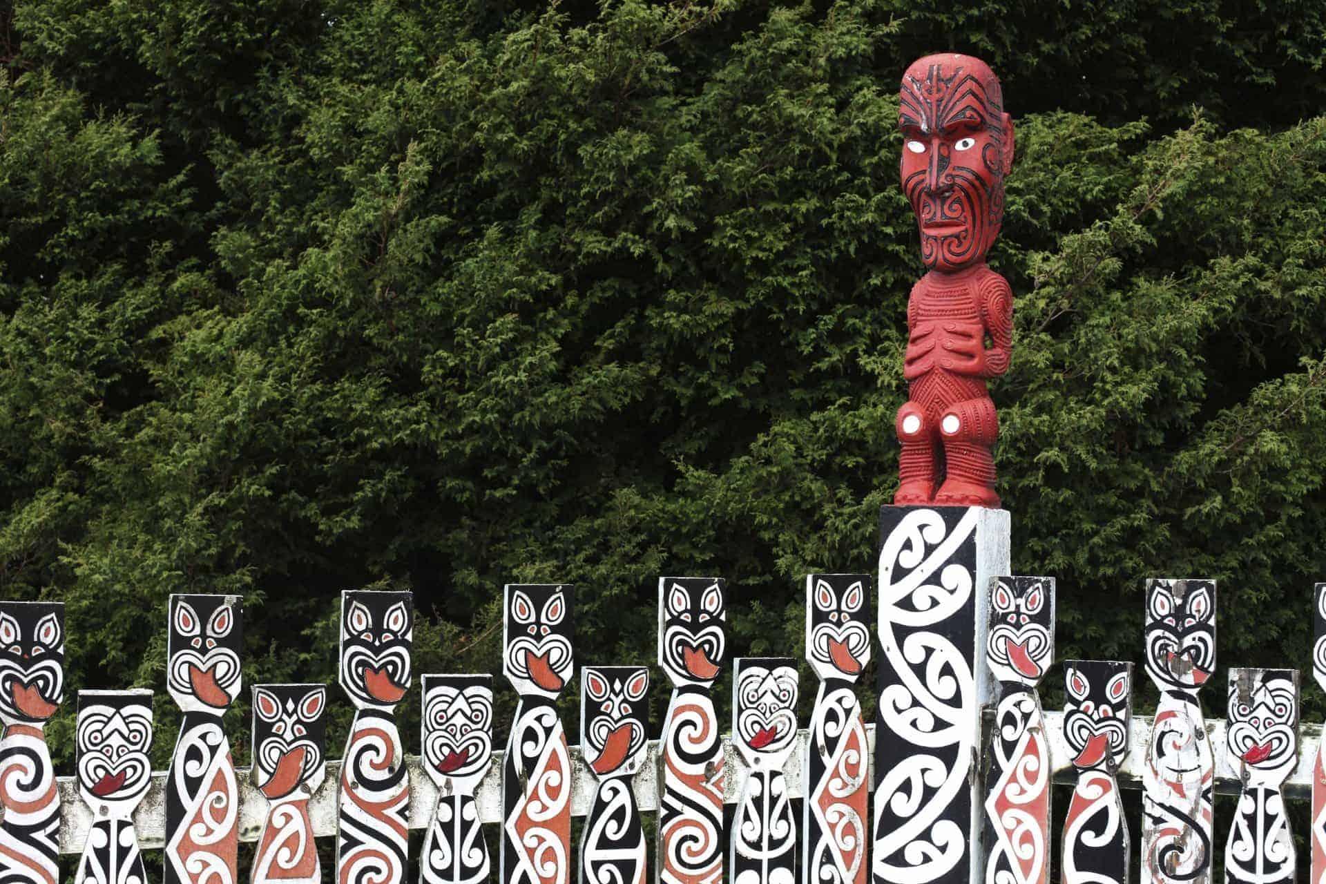Maori New Zealand NZ carved rotorua
