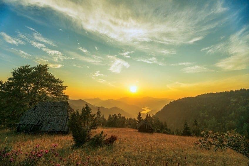 Tara Mountain Range in western Serbia