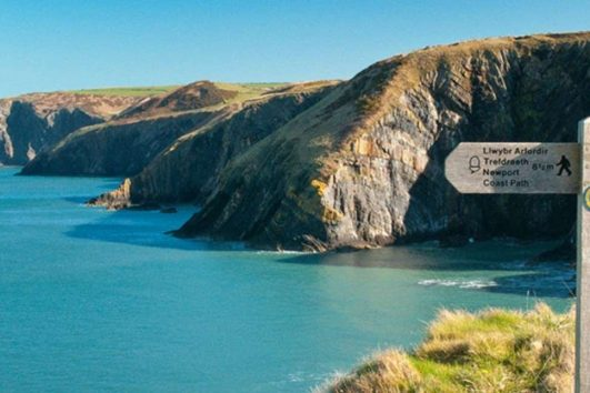 Exploring Wales on foot, mature travellers small group walking tours