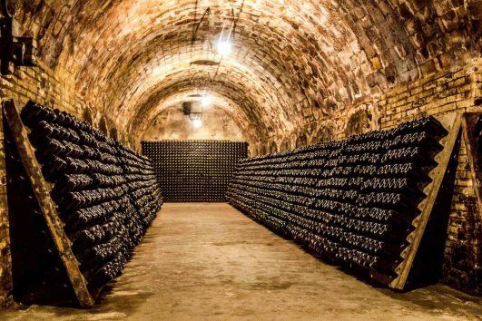 Champagne Region cellar France