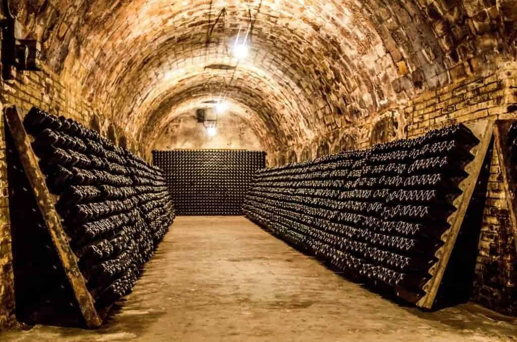 Wine bottles France