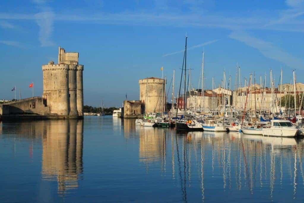 Port city, France, boats