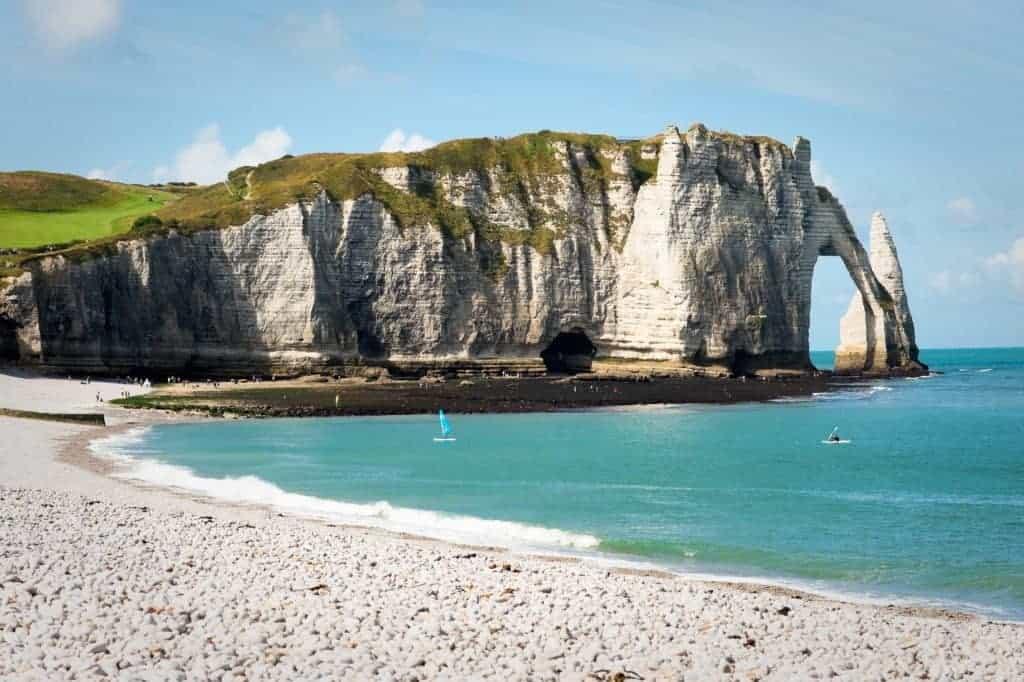 Rocky beach in Normandy
