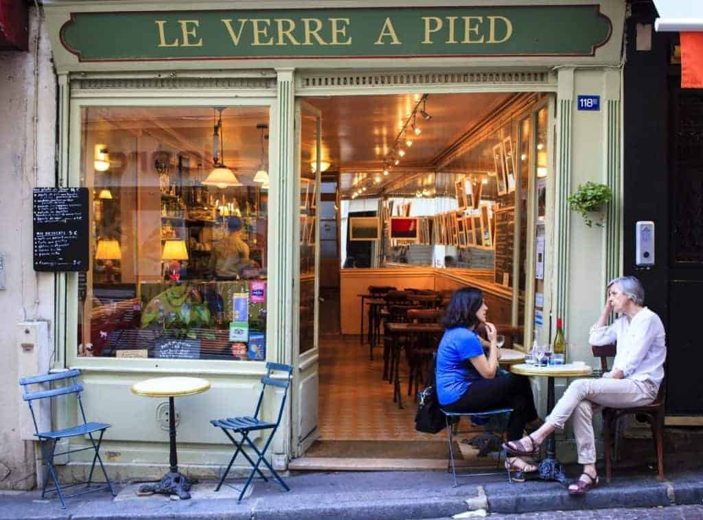 French holiday, Paris cafe