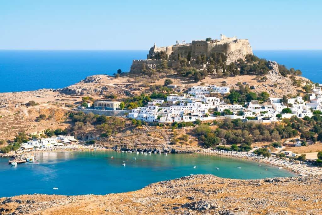 Acropolis at Lindos, Rhodes, Eastern Mediterranean
