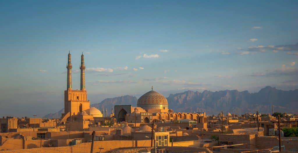 Yazd Iran towards the mountain