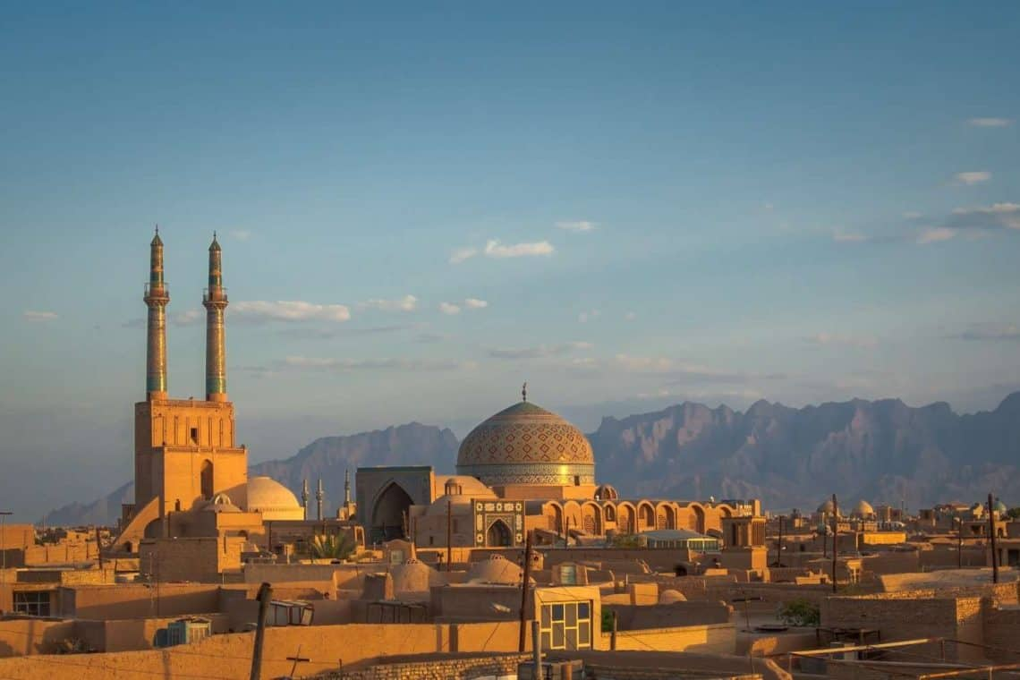 Yazd Iran towards the mountain
