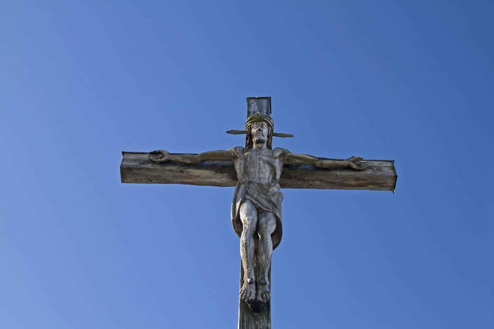 The Crucifix atop Kofel near Oberammergau