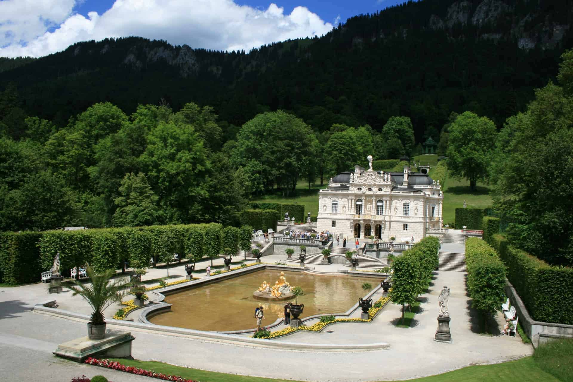 Linderhof Castle, Oberammergau, Germany, Bavaria, Ettal