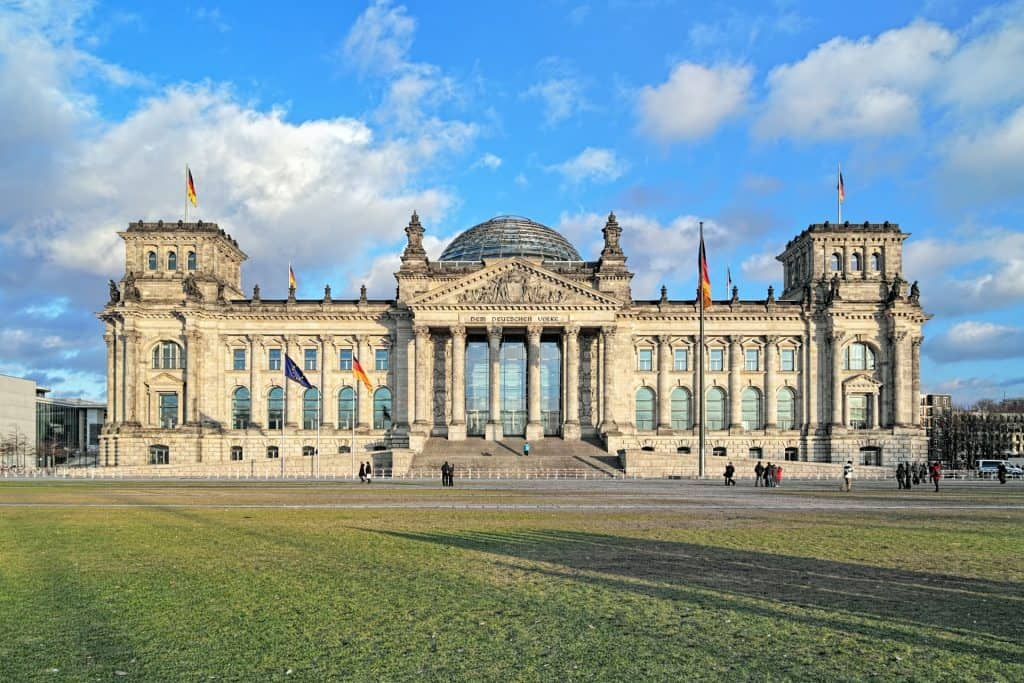 Photo of Berlin's parliament building