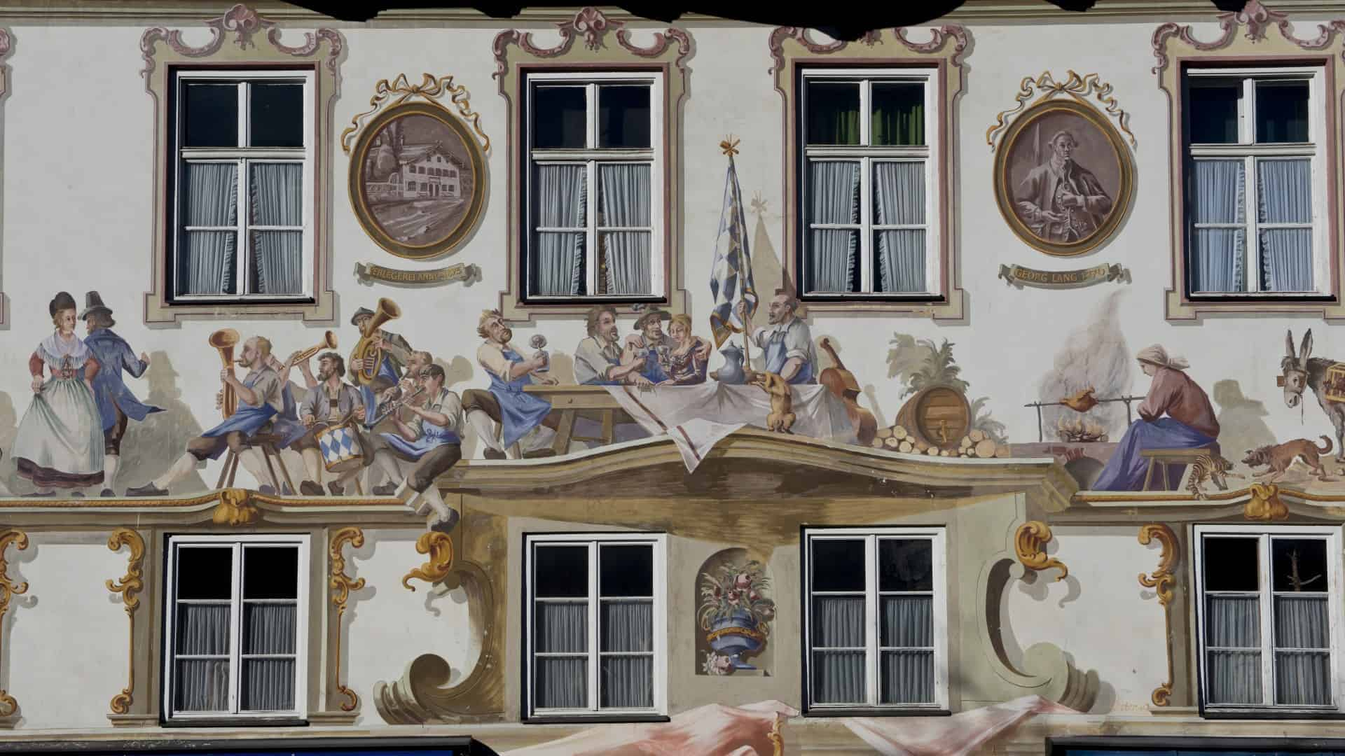Oberammergau in the Bavarian Alps
