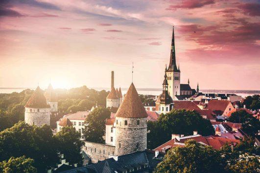 Tallinn Estonia Sunset