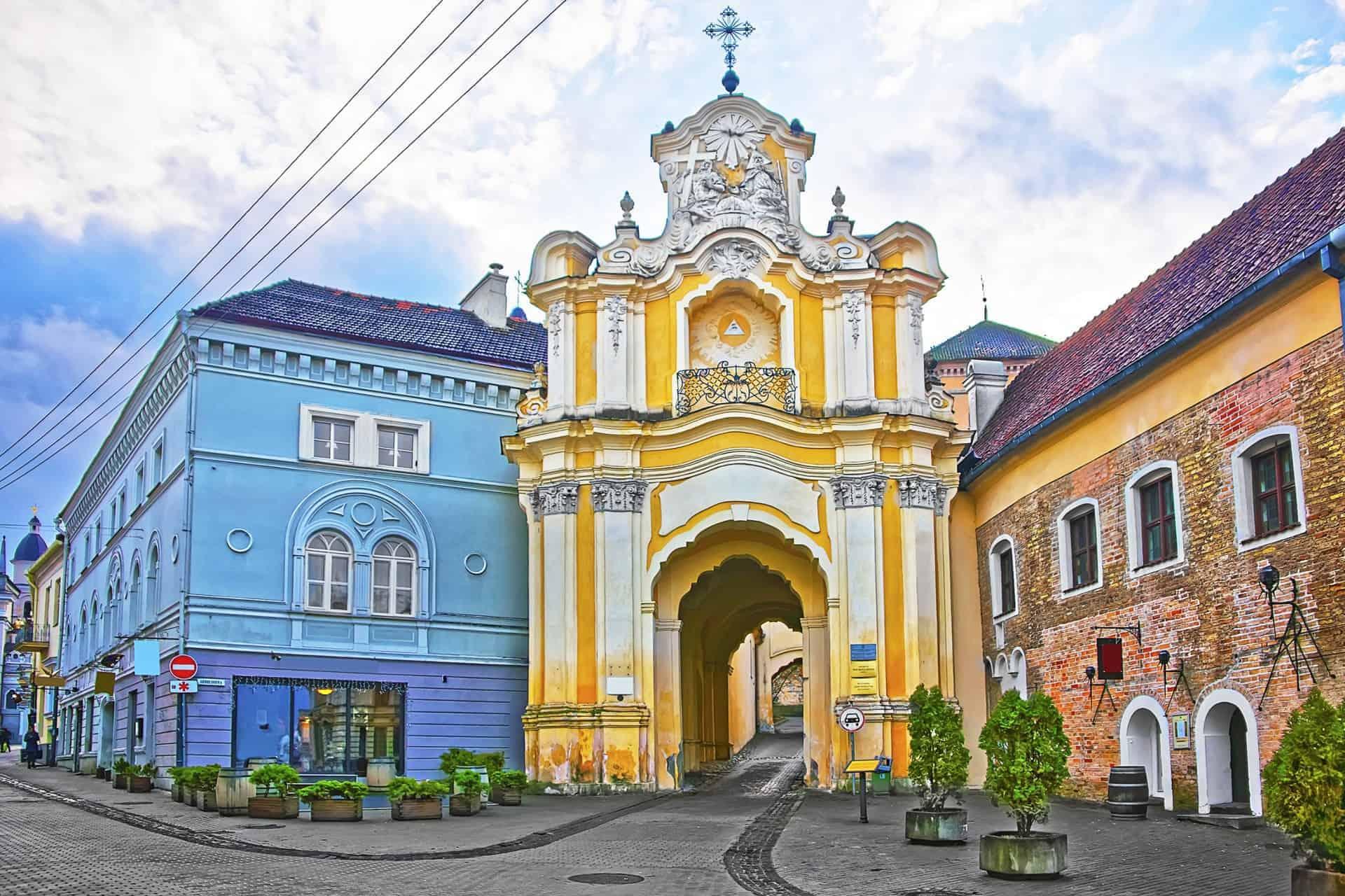 Architecture in Old Town, Vilnius