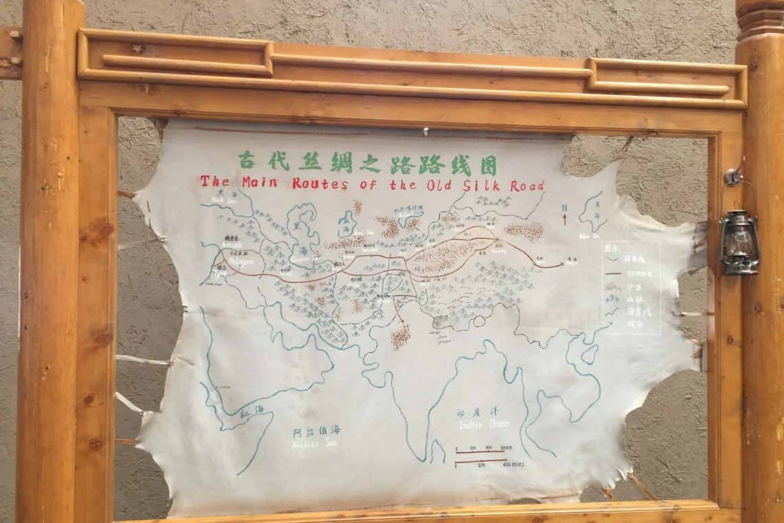 A Map of the Ancient Silk Road