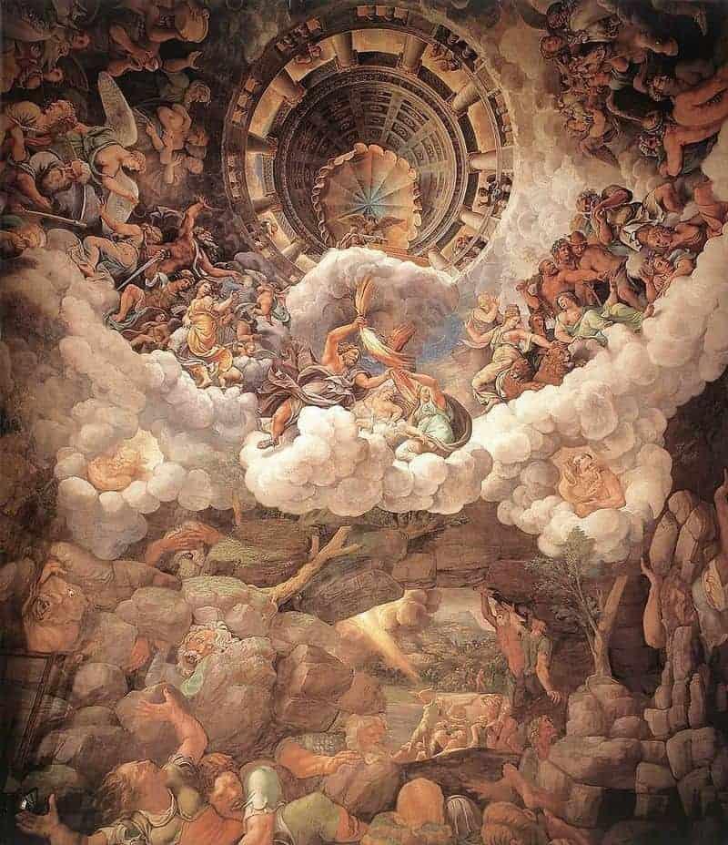 Giulio Romano's famous fresco, The Fall of the Giants, at the Palazzo Te.