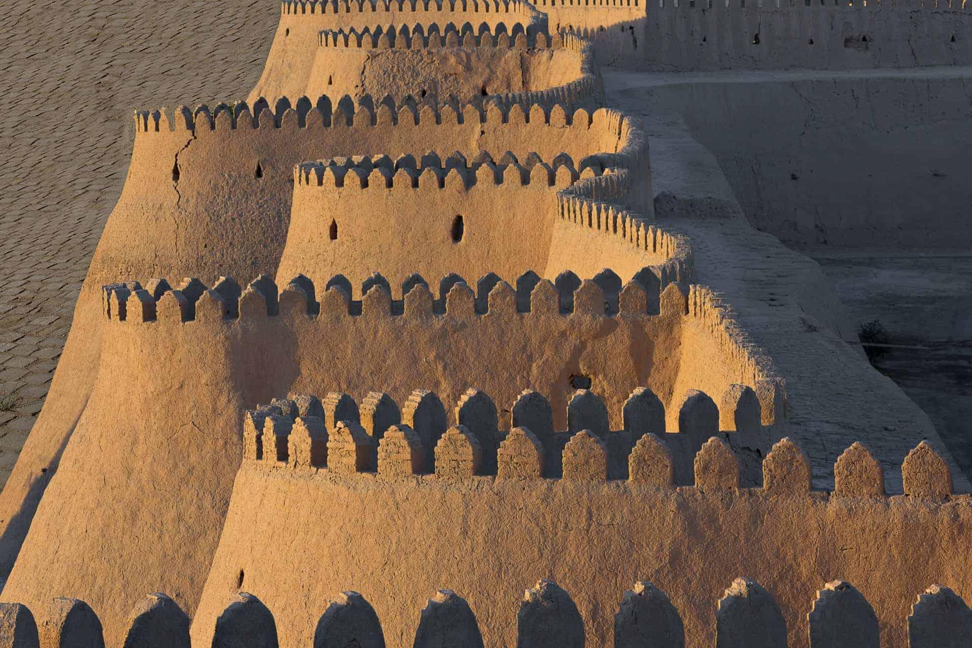 Khiva Walls, old town, uzbekistan