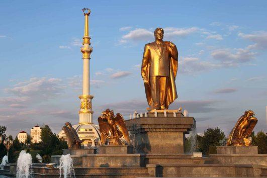 Monument of Niyazov and Independence Arch, Ashgabat, Turkmenistan