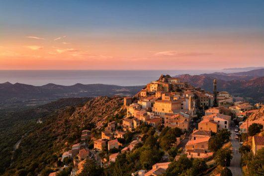 Balagne village of Speloncato, Corsica