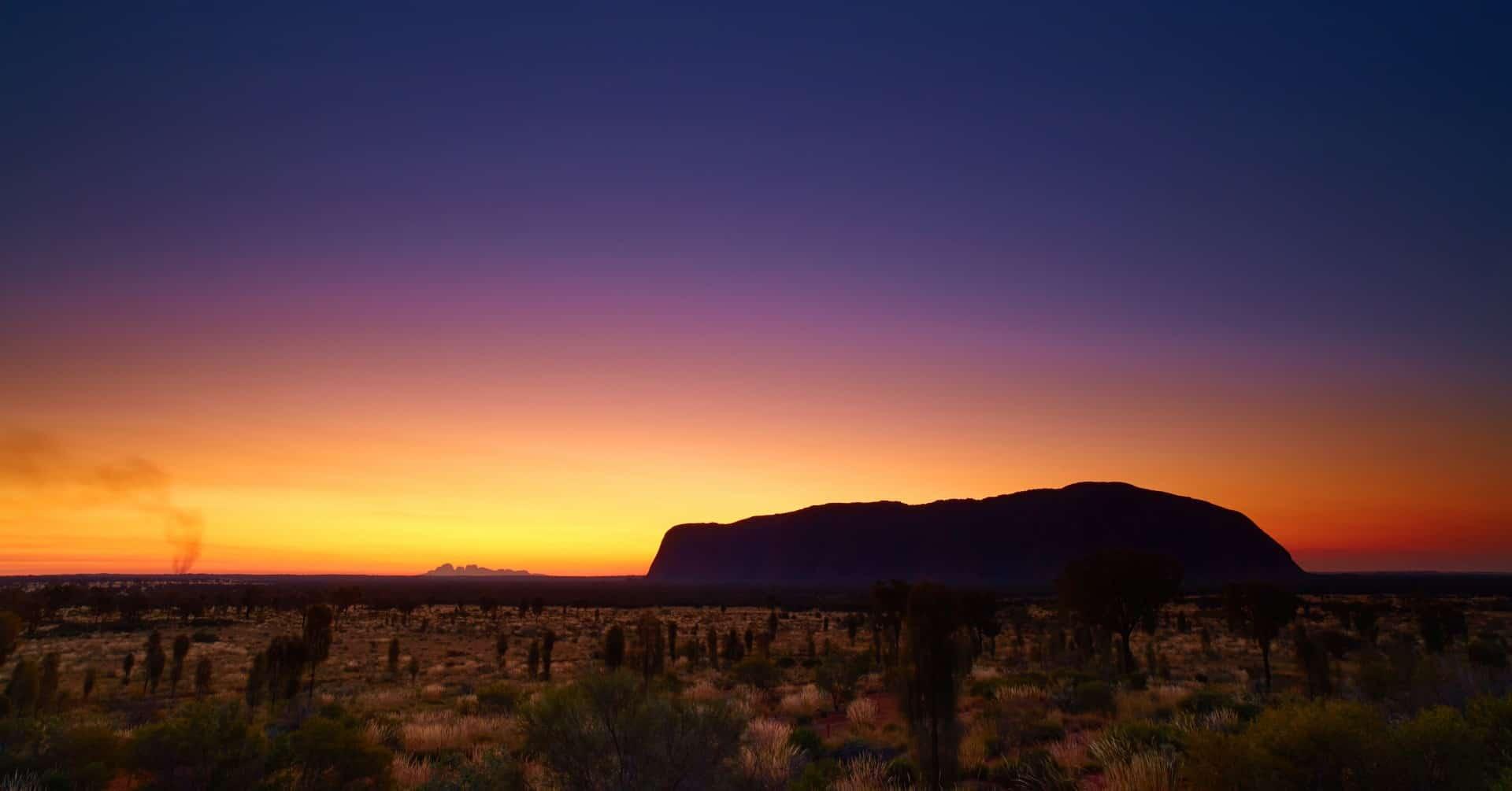 Uluru, dusk