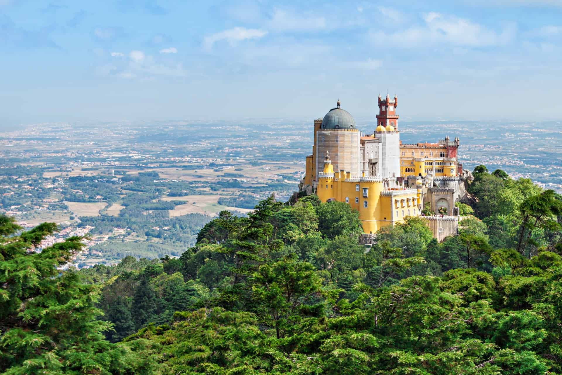 The Pena National Palace Sao Pedro de Penaferrim, Sintra, Portugal