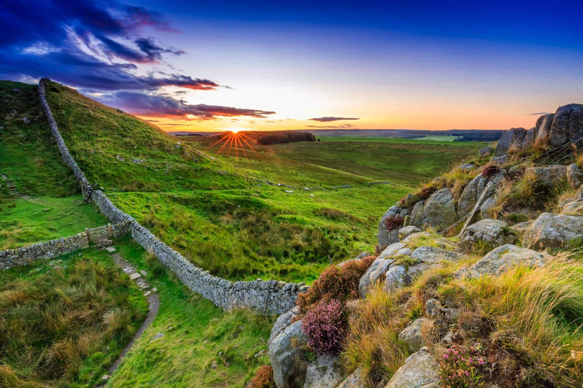 Hadrian's Wall in Northumberland, England