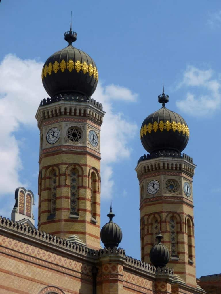 The domes on the Great Synagogue in Hungary