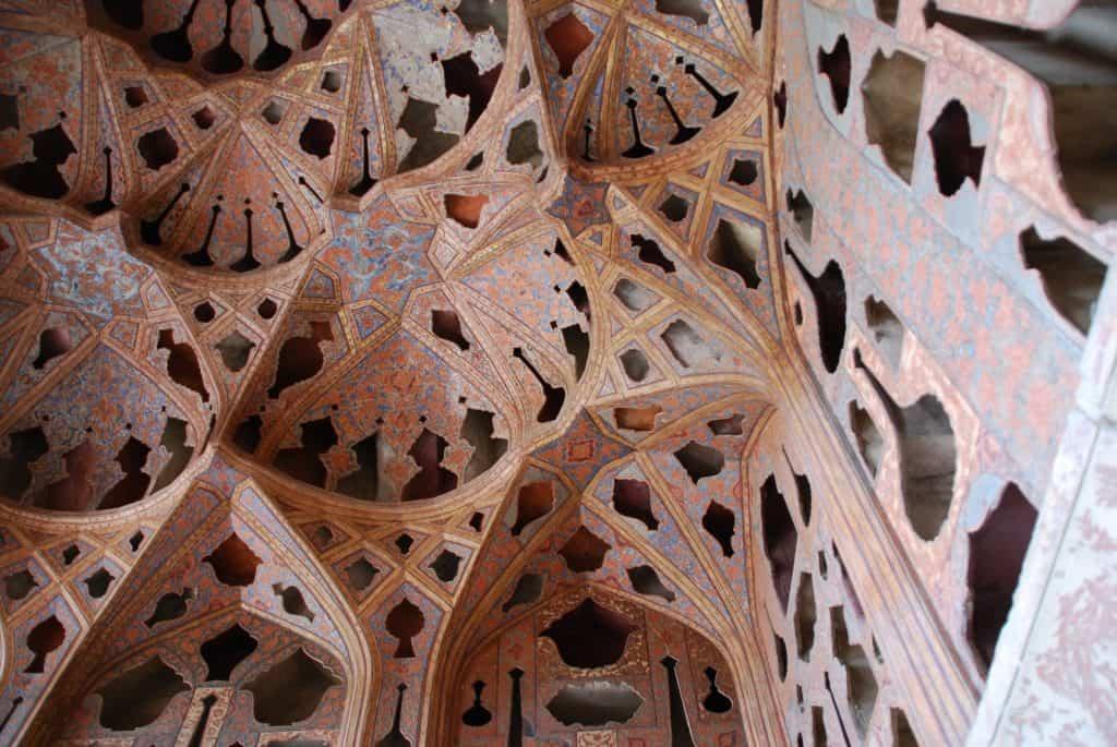 Ali Qapu ceiling