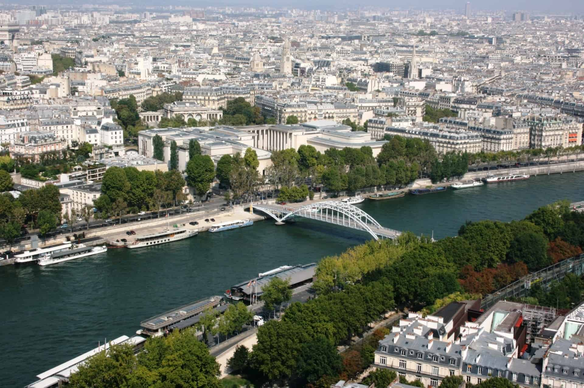 An aerial view of the Seine River.