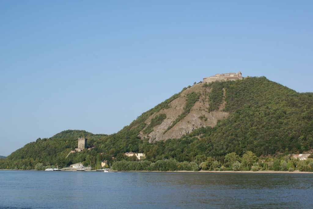 The remains of the castle and citadel in Visegrad