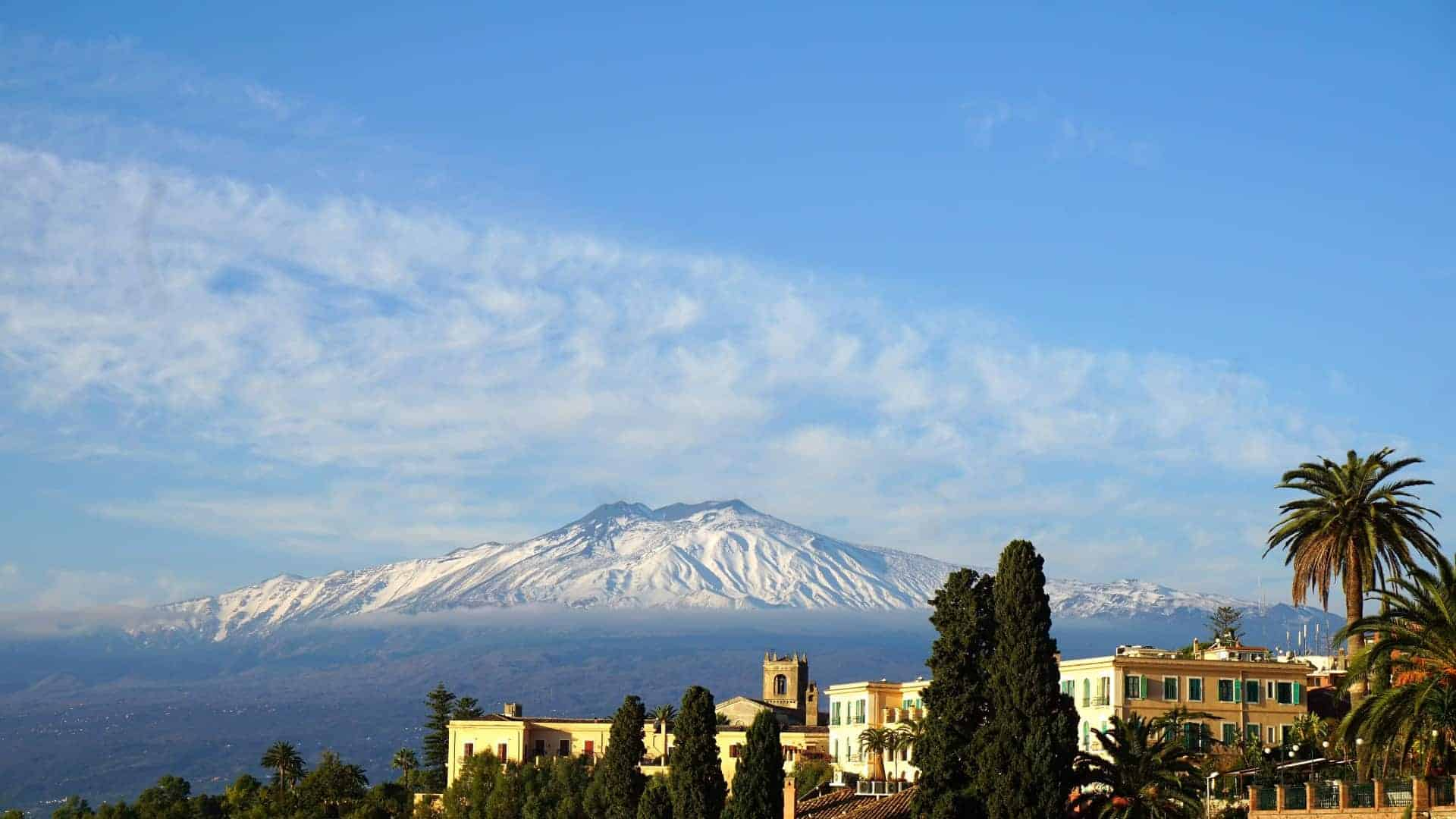 A view of Mt. Etna in Sicily