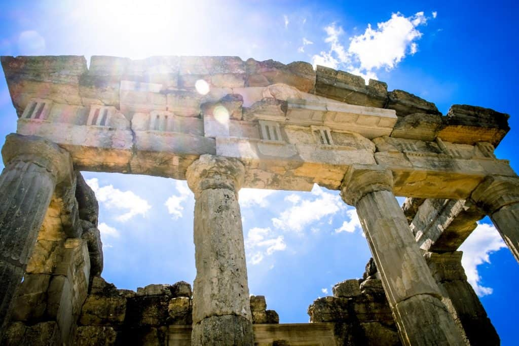 Greek temple ruins in Messina