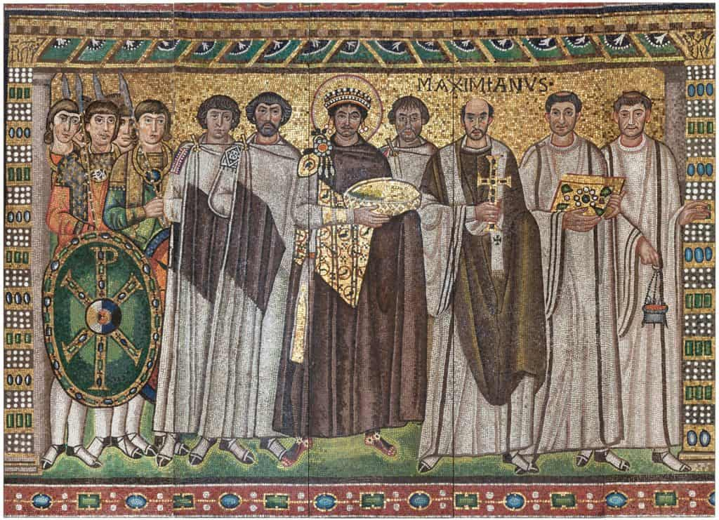 Emperor Justinian and Members of His Court.