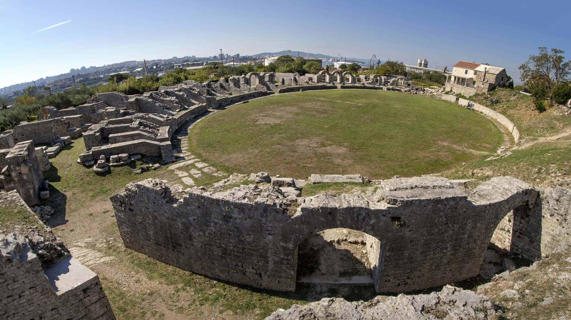 Roman Ruins near the town of Split, Croatia