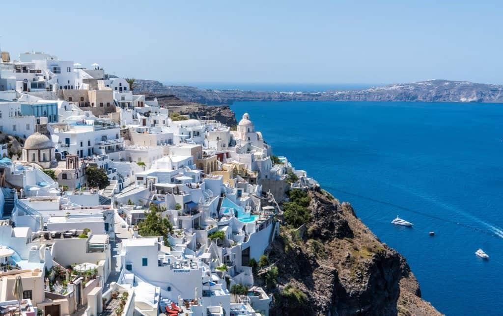 Santorini greece white houses