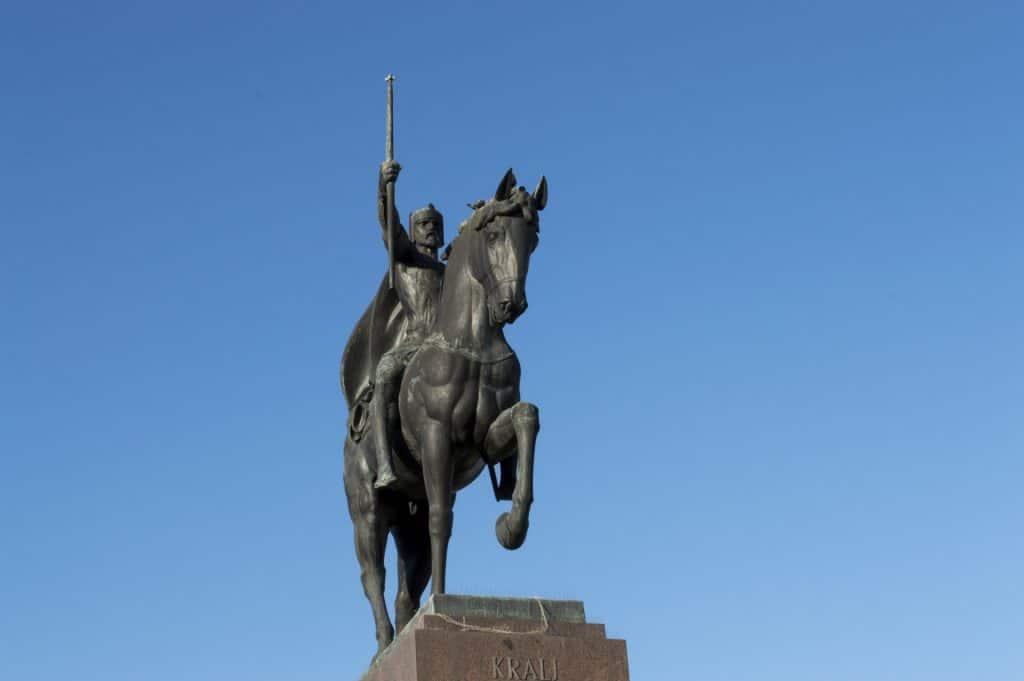 A statue of King Tomislav in Zagreb, Croatia