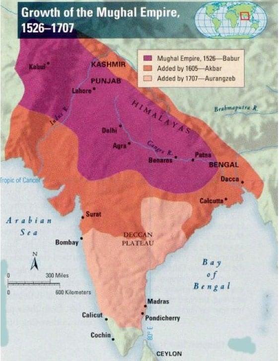 Mughal expansion map