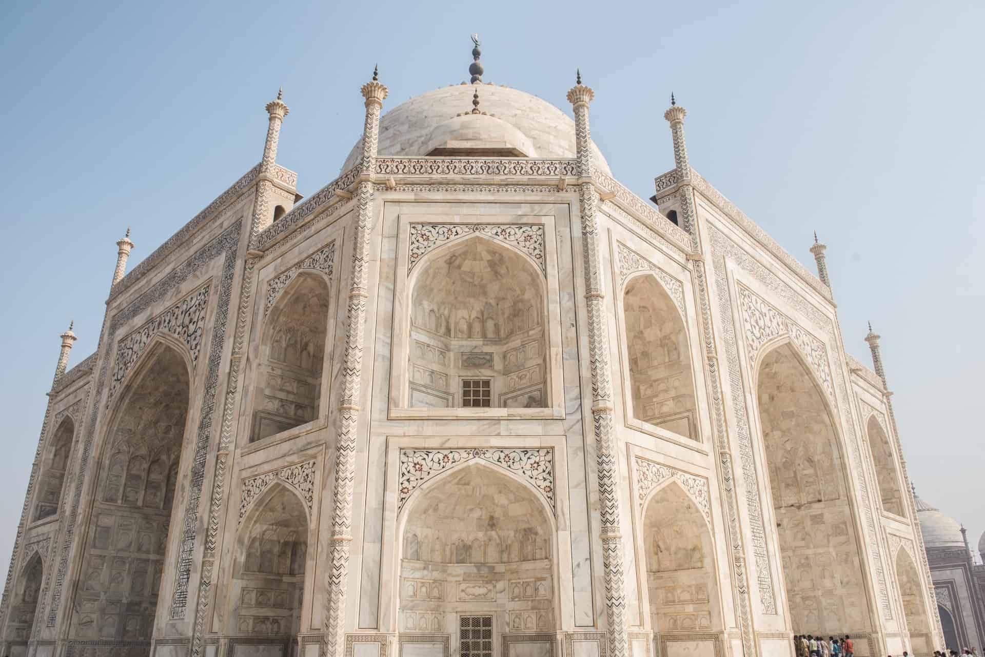 The marble of the Taj Mahal