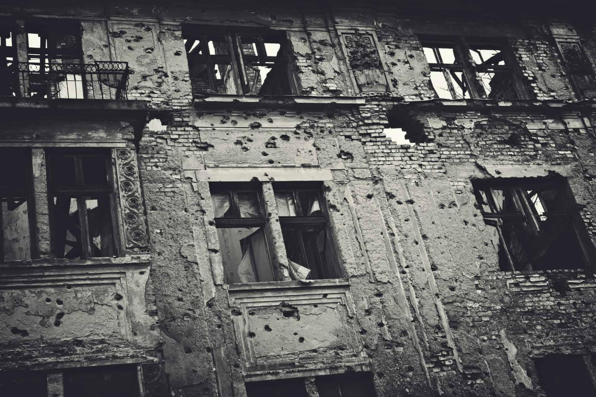 Damage from the Balkans War